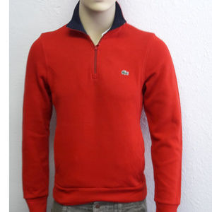 Lacoste Men's Zip Stand-Up Neck Cotton Sweater